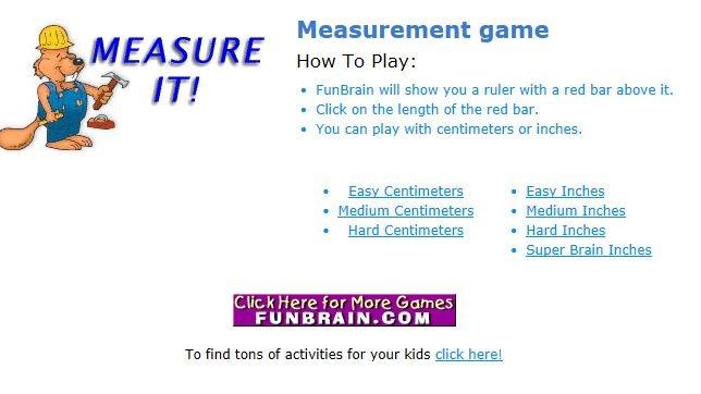 Measurement: Measure it (easy, medium, hard cm / easy, medium, hard, super brain inch)