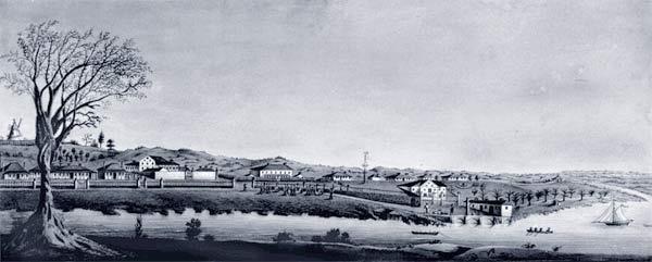 Painting of Moreton Bay, Queensland, Australia in the 1800s. #QLD #Australia
