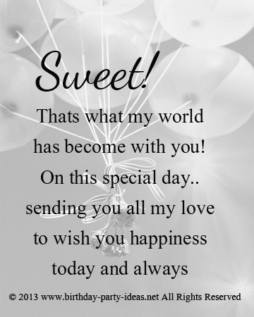 Love Birthday Quotes Simple 7 Best Happy Birthday Quotes 4 Your Love One Images On Pinterest