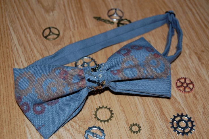 cogs Bowtie Grey by Houseofbecca on Etsy