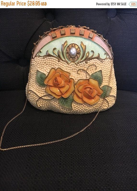ON SALE Vintage Nostalgic Resin Decorative Handbag  Popular