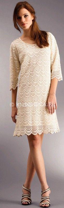 Платье шикарное | Вязание для женщин | Вязание спицами и крючком. Схемы вязания.