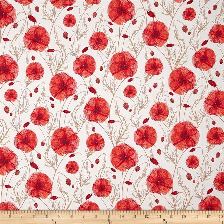 poppy print fabric - photo #33