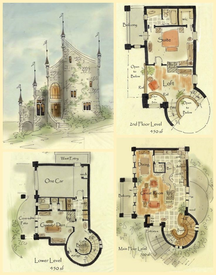 5 bedroom 4 bath castle house plan alp 09rz allplanscom for Castle house plans small