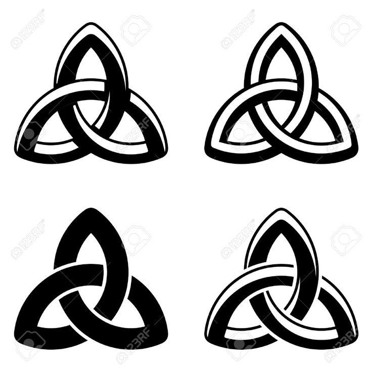 Vektor-keltischer Knoten Schwarz Weiß Symbole Lizenzfrei Nutzbare…