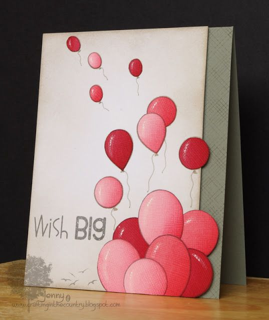 created by Jenny of Crafting in the Country -  This is a beautiful and fun card - love it!