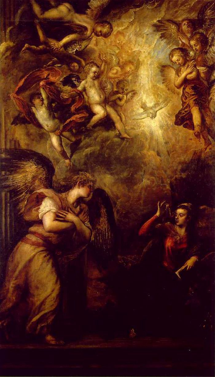 Annunciation by Titian #art  Discover the coolest shows in New York at www.artexperience...