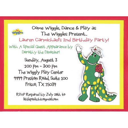 Wiggles Birthday Invitation