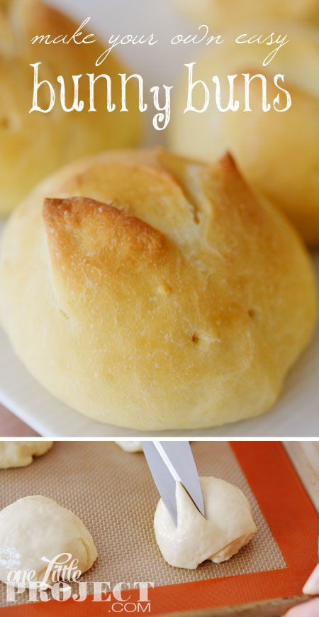 Make your own easy bunny buns! All you need is a good dough recipe and a pair of scissors.