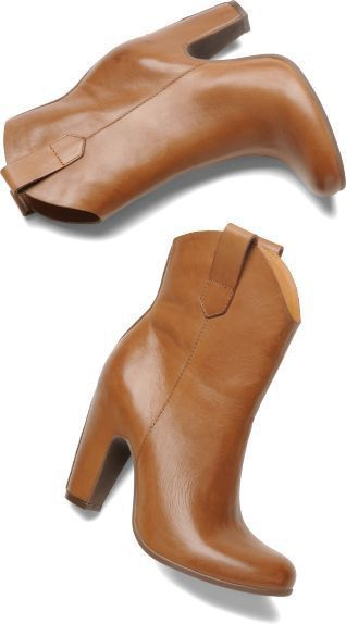 KORK EASE LENA BOOTIES 6 Tan Leather Ankle Boots $245 Anthro Free People Shoes…