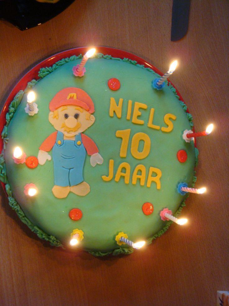 verjaardagstaart! Super Mario!
