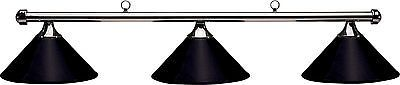Table Lights and Lamps 75189: Hj Scott Gunmetal Bar/Black Metal Shade Billiard Pool Table Light BUY IT NOW ONLY: $148.79