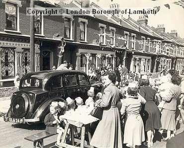 Street Party, Lambeth: Coronation Celebrations 1953