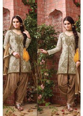 beige clair coton couleur patiala salwar kameez, - 81,00 €, #Robeindienne #Salwarkameezfemme #Salwarkameezmariage #Salwarkameezenligne #Shopkund