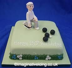 Lawn Bowling Cake Toppers