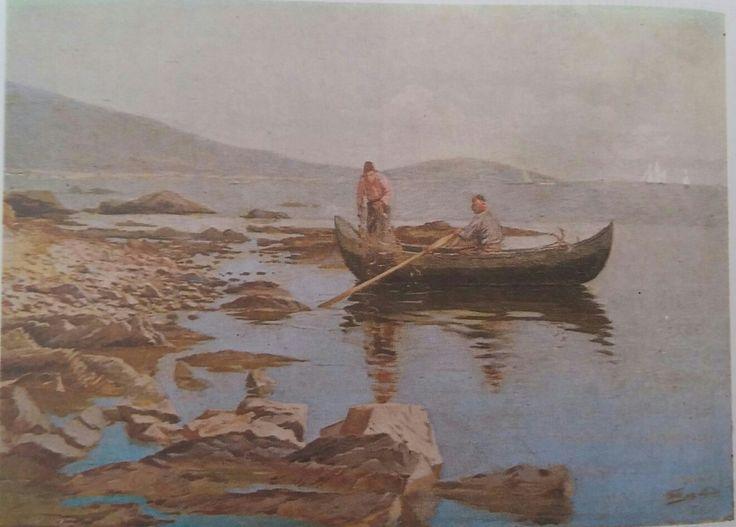 Halil Paşa: Kıyı Görünümü. Tuval uzerine yagliboya. 110×90 cm. (1892) ozel koleksiyon