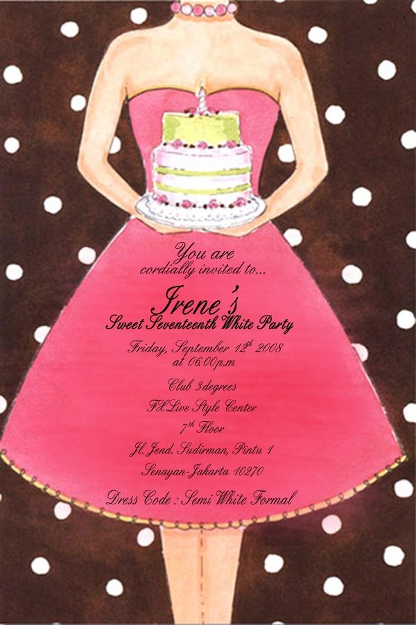 Best Invitaciones Images On Pinterest Quinceanera Invitations - Contoh invitation card sweet seventeen birthday party