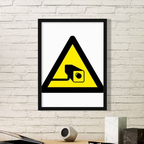 Warning Symbol Yellow Black Camera Triangle Sign Mark Logo Notices Simple Picture Frame Art Prints of Paintings Home Wall Decal #PictureFrame #Camera #ArtPrints #Warning #DecorativePainting #Symbol #SimpleDesign #Sign #HomeDecoration #Mark #WallDecal #Notice #PrintPainting #Security #Alert