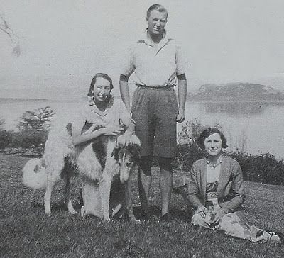 Lord and Lady Erroll in Kenya Highlands Residence, 1925 with Scottish Deerhound