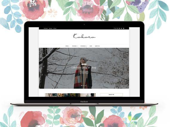 Kokoro un tema WordPress tienda y hermoso Blog. Una