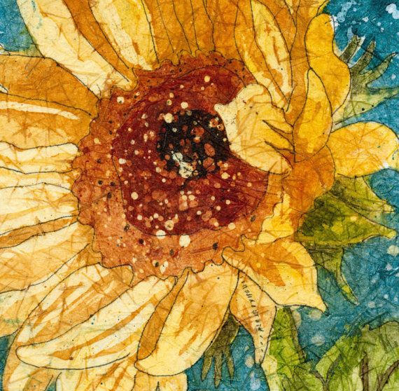 Sunflower Art Sunflower painting Watercolor Paintings