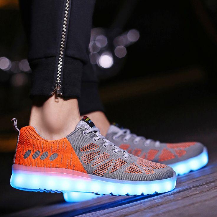 >> Click to Buy << Male LED led shoes man Colorful lights superestrella shoes Men sapato masculine fluorescent couple shoe zapatos hombre Maidun #Affiliate
