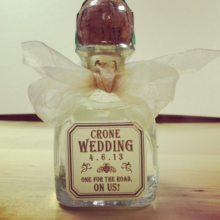 tequila anyone wedding favor paired with a hangover kit can 39 t wait