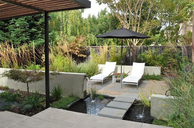 45 best mid century modern landscape inspiration images on for Mid century modern water feature