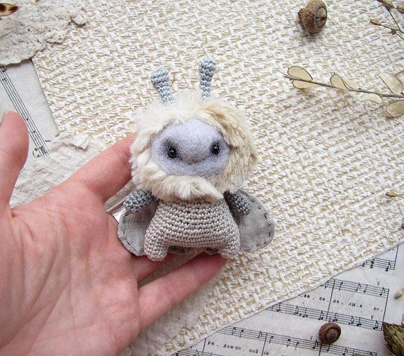 Toy Mole Knit Toy Soft Aviator Gift for her Cute Mole