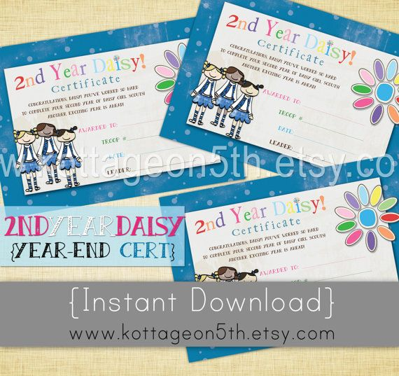 printable daisy girl scouts certificates | just b.CAUSE