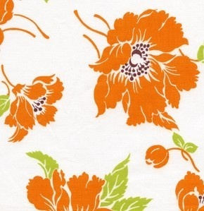 """Tanya Whalen Fabrics  """"Marilyn"""" in orange: Living Rooms Chairs, Cotton Fabrics, Colors 2012, Fabrics Marilyn, Clutches Patterns, Orange Flowers, Orange Poppies, Chairs Ideas, Bedrooms Chairs"""