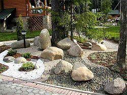 Композиция из камней, сад камней
