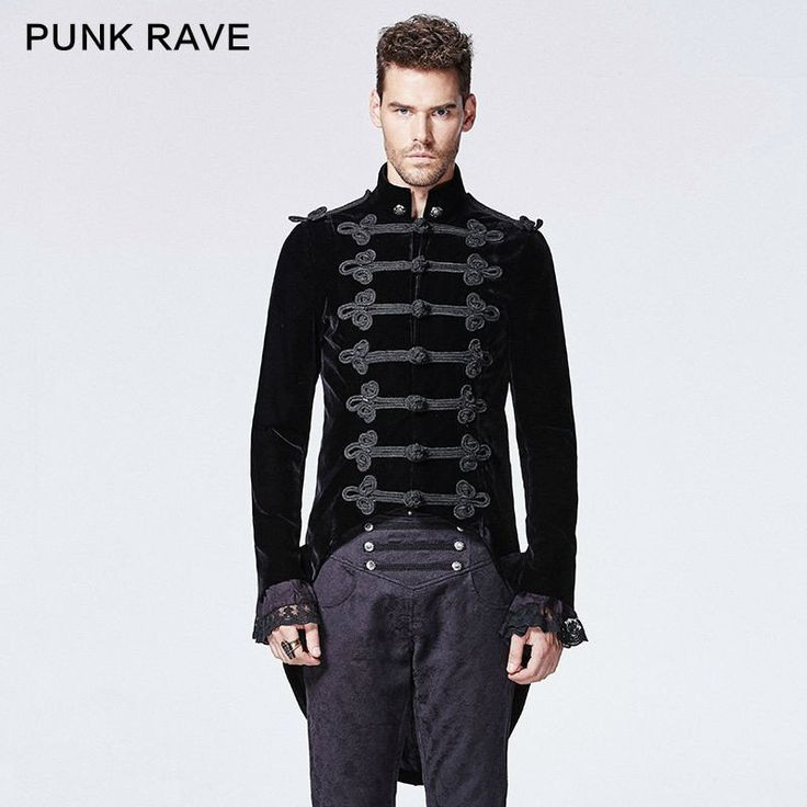 New punk Rave Gothic Steampunk Fashion Vintage Style Visual Kei Retro Top Men Vest Jacket Y593