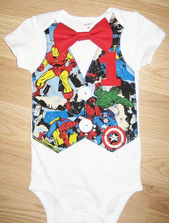 Vest onesie. Vest shirt. Boys tshirt. Superhero by kottoncactus, $28.50 i would like to try and make this myself for Jon's 1st birthday!