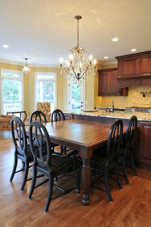 16 best kitchen island table combo images on pinterest dream kitchens dining rooms and kitchens. Black Bedroom Furniture Sets. Home Design Ideas