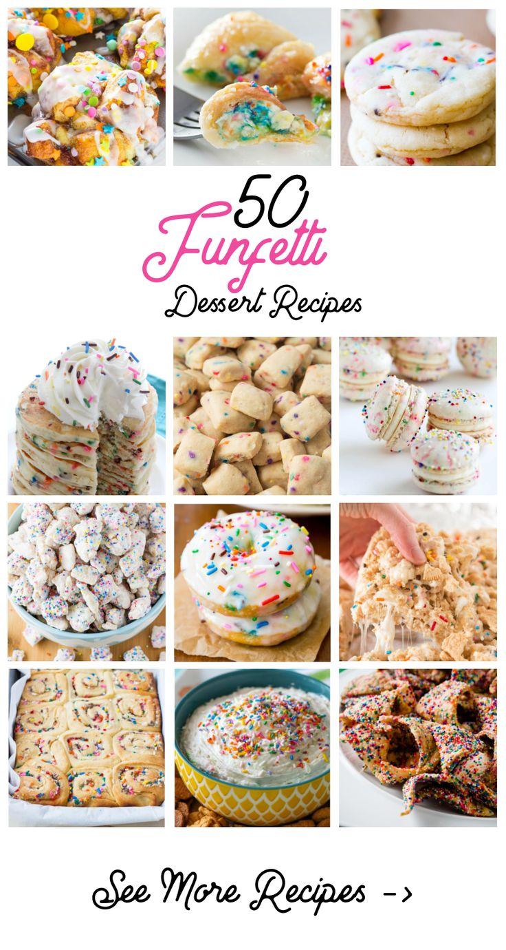 50 Funfetti Dessert Recipes