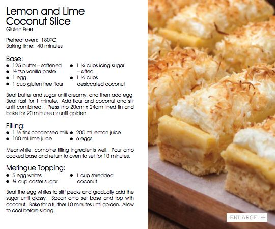 May 2013 - Lemon and Lime Coconut Slice | Vudu Cafe Queenstown