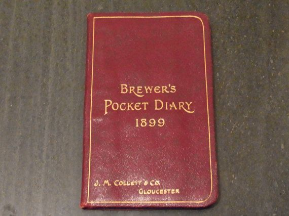 Antique Victorian Brewer's Pocket Diary 1899 by WhiteHartAntiques