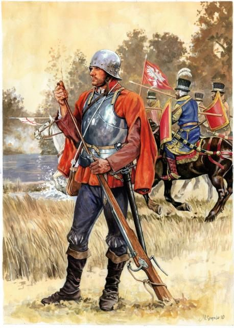 Arquebusier & Polish Hussars from the battle of Orsha 1514