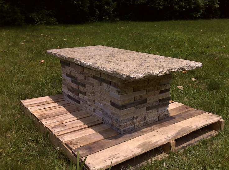 forever stone recycled granite bench