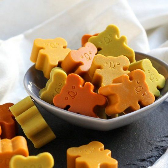 These Cold Busting Coconut Gummies are a great way to get a common home remedy for colds & flu into kids.