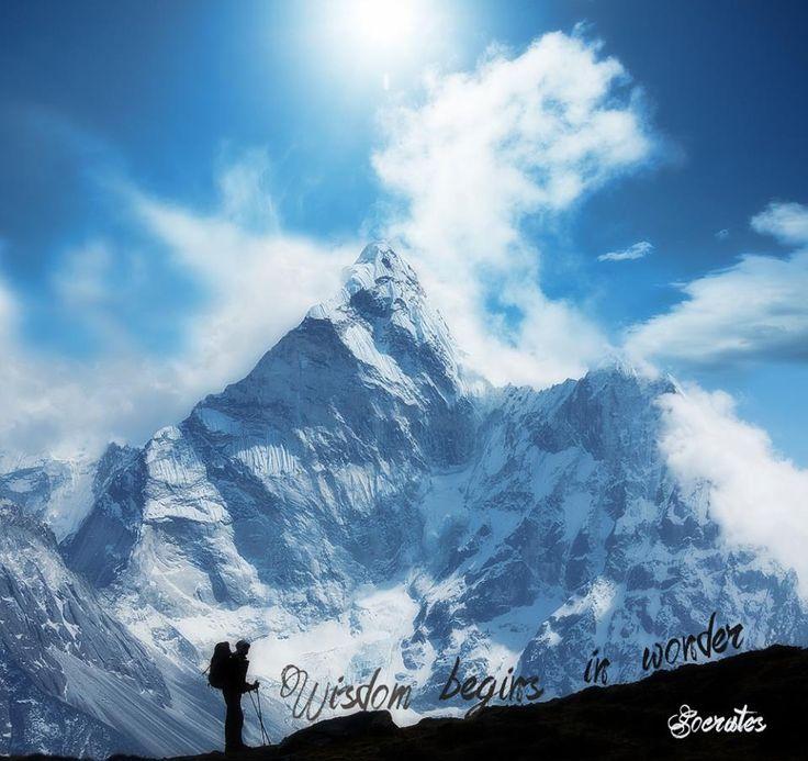 And mountains make you wonder... #wanderlustwednesday #travel #nepal #wanderlust #mountains #nature