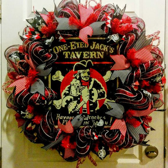 Extra Large Gasparilla Pirate Wreath by P31Pursuit on Etsy