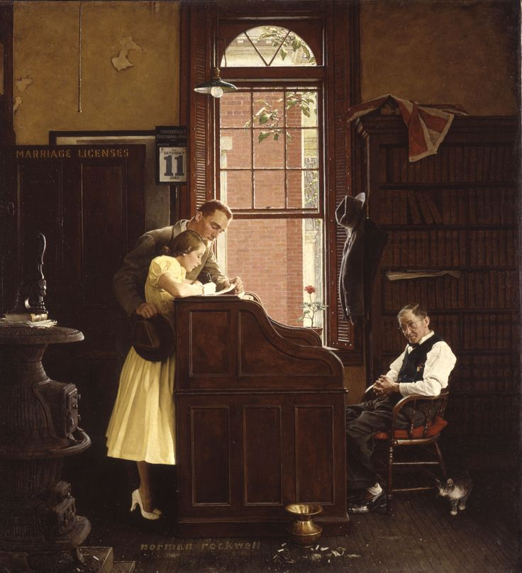 The Marriage License - Rockwell