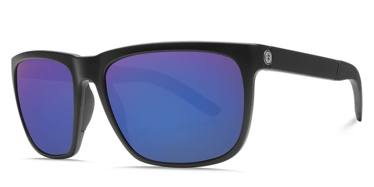 Electric Knoxville XL S Matte Black OHM Polarized Blue Sunglasses EE16001065