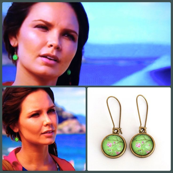 The gorgeous Sophie from Home and Away wearing our Bird in a Tree drop earrings :) www.nestofpambula.com.au