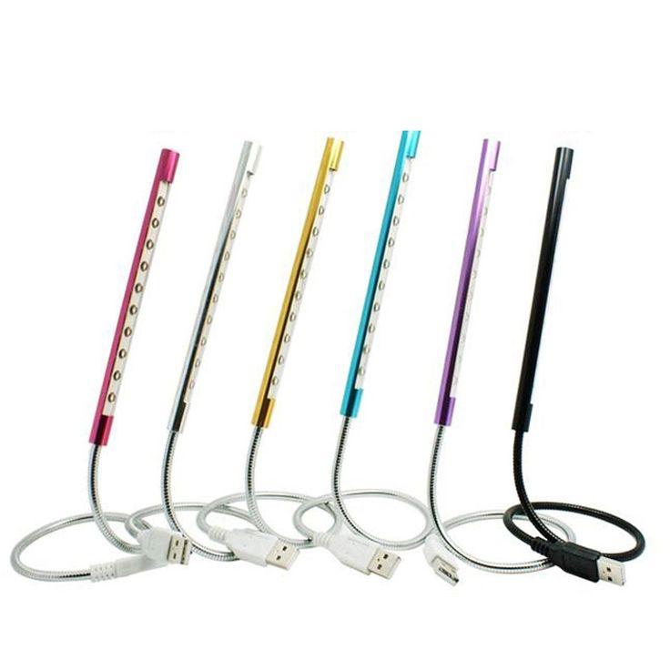 Портативный Мини Гибкий USB LED Свет Факела Фонарик Для ПК Портативный Ноутбук Клавиатура Компьютера Ночь Чтение Лампы 6 Цвет