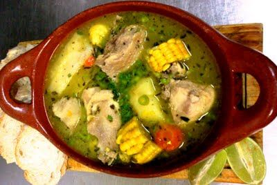 Sancocho is a traditional soup served in Colombia, mostly along the coast as it is a soup made with fresh fish.