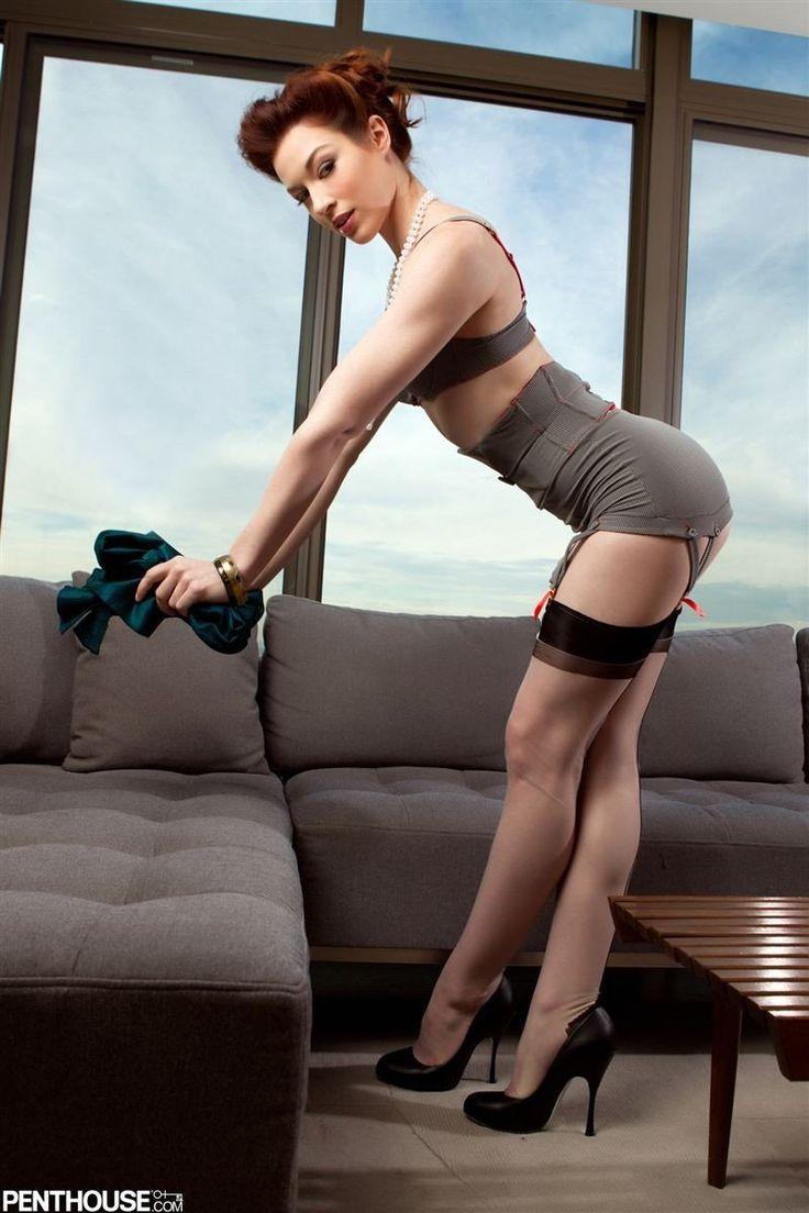 Actress models having stockings sex