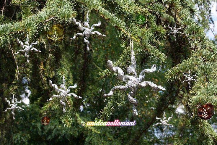 decorazioni natale alluminio, stelle natale alluminio, decorazioni natalizie da appendere, Stelle di carta stagnola Tutorial